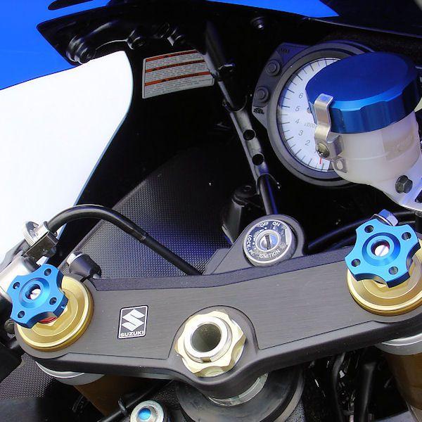Ajuste da suspensão Dianteira 14mm Honda CBR600RR 07/12 Azul