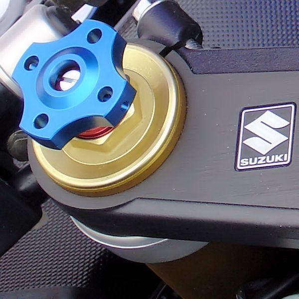 Ajuste da suspensão Dianteira 19mm Honda Kawasaki Suzuki Azul