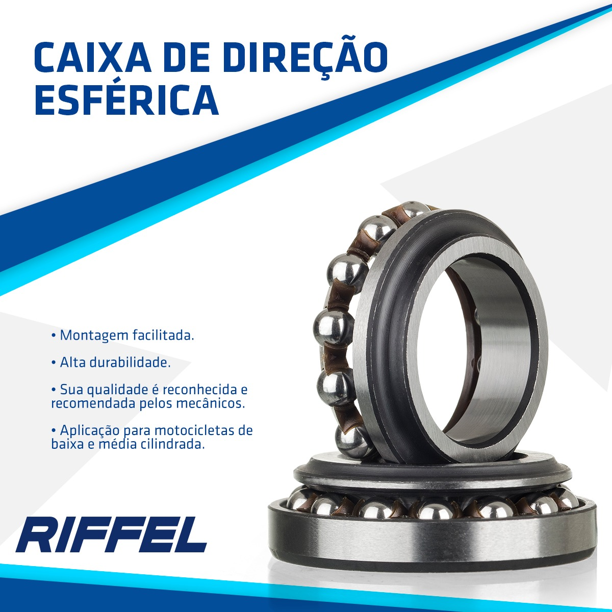 Caixa de Direção Esférica CG 125 (79-99) / AKT 125 / ECO 100 / CBX 200