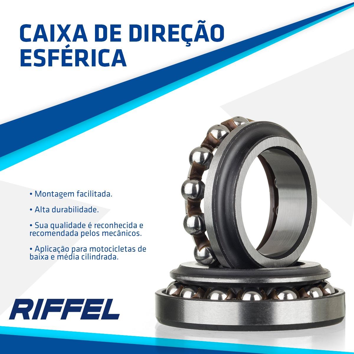 Caixa de Direção Esférica NXR 125-150-160 BROS / NXR 150 BROS / XLR 125 / XR 200 / NX-4 Falcon / XR 250 / NX 200 / NX 15