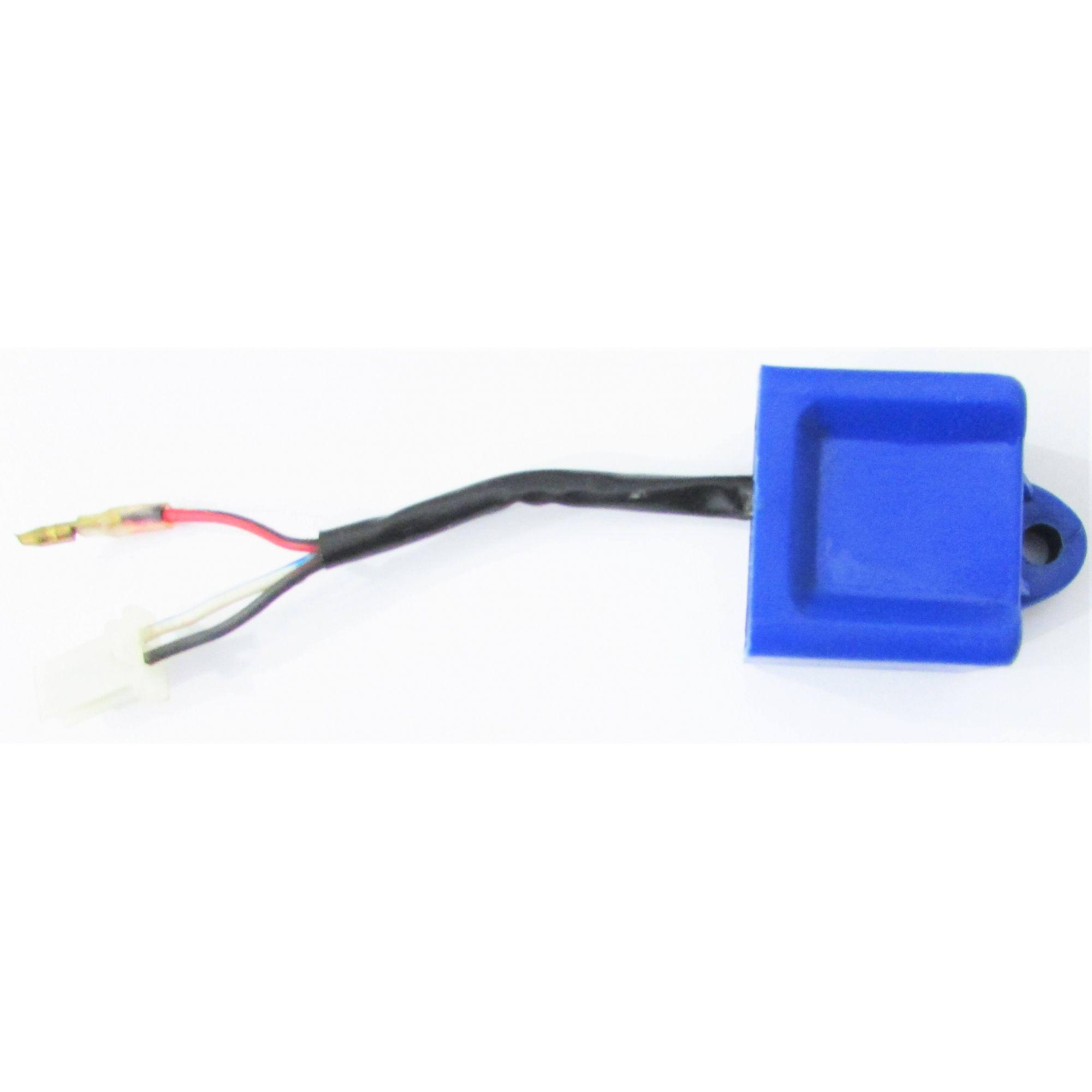 Central da Ignição CDI Modelo Similar Original Sundown SCOOTER PALIO 50cc (caixa azul c/ 3 fios)