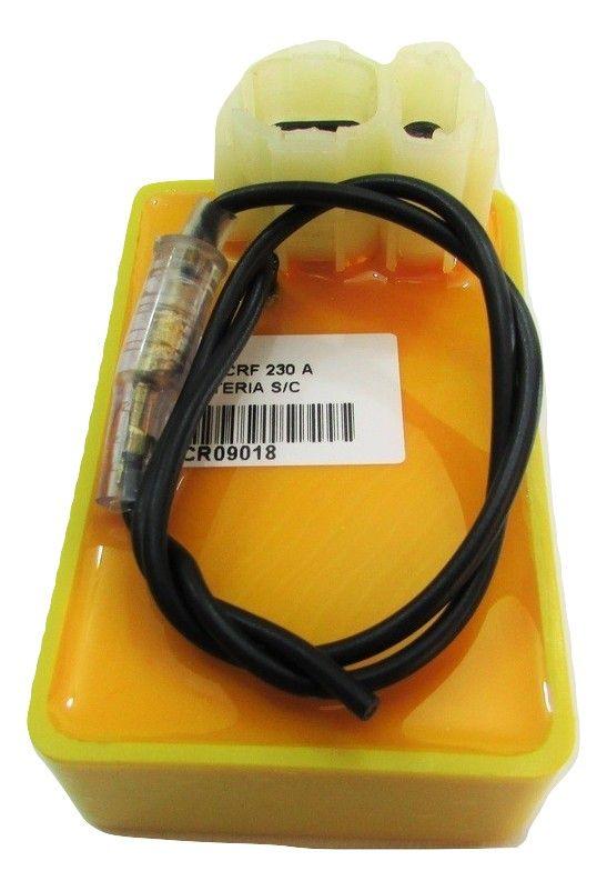 Central da Ignição CDI Modelo Racing Honda CRF 230 s/ corte de giros alimentado por bateria