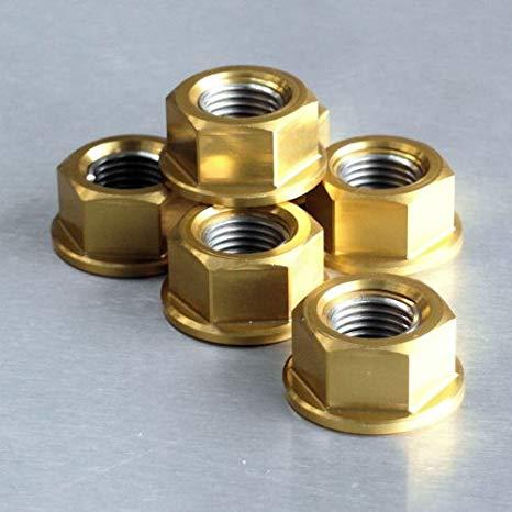 Conjunto de Porcas da Coroa 12mm 6 Unid Dourado