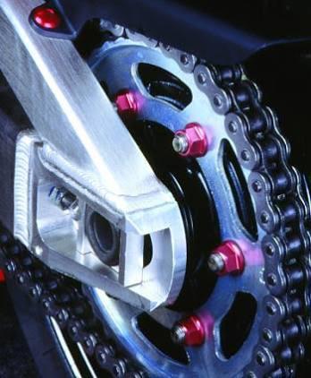 Conjunto de Porcas da Coroa 10mm Perfurada 6 Unid Roxo