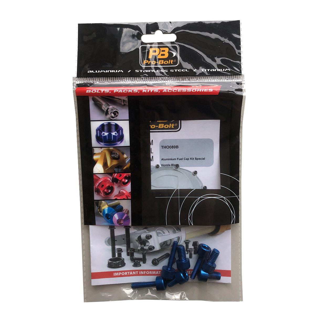 Kit de Parafusos para Moto HONDA Azul (placa, bolha e tampa do tanque)