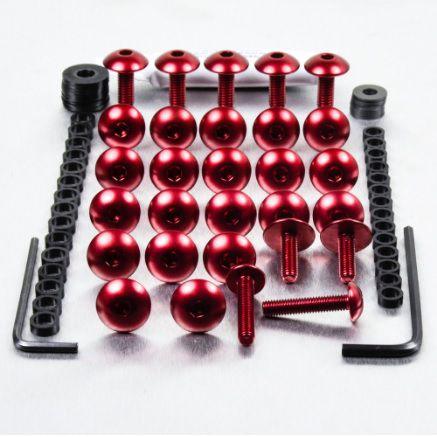 Kit Universal de Parafusos da Carenagem Alumínio Pro-Bolt 50pçs Vermelho