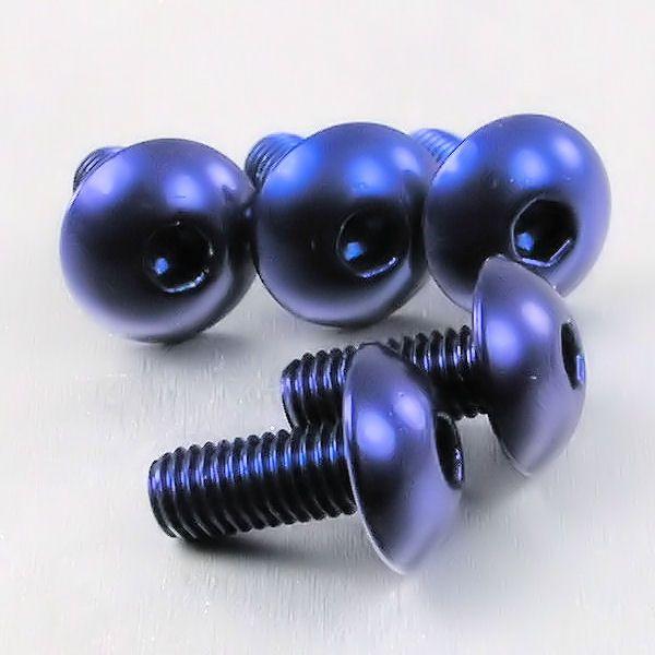 Parafuso Allen de Alumínio Dome Head M5 x 15mm Unidade Azul