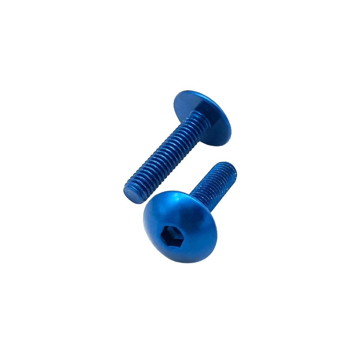 Parafuso Carenagem Allen de Alumínio Dome Head M5 x 16mm Unidade Azul
