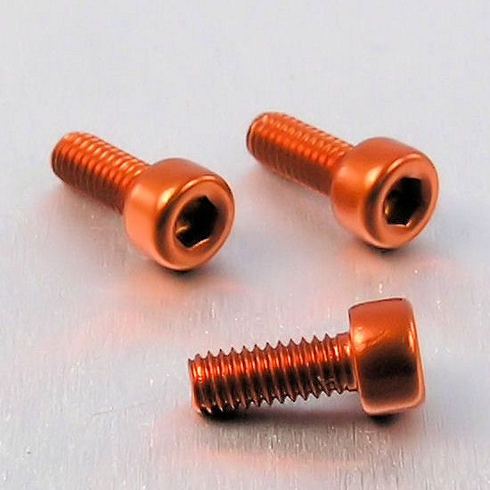 Parafuso Allen de Aluminio Socket Cap M4 x 10mm Laranja