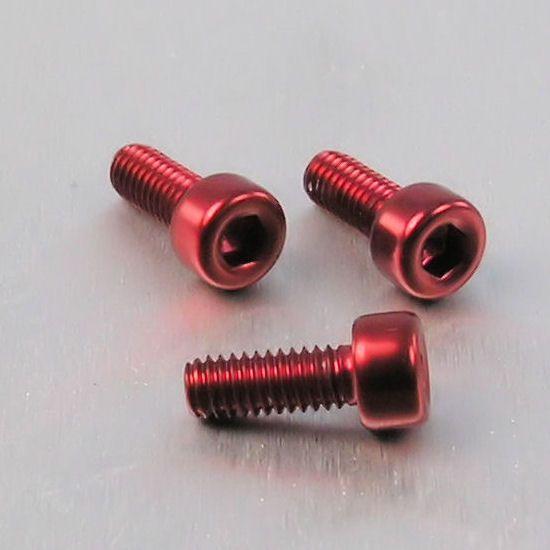 Parafuso Allen de Aluminio Socket Cap M4 x 10mm Unidade Vermelho