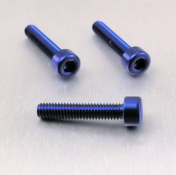 Parafuso Allen de Aluminio Socket Cap M4 x 20mm Azul