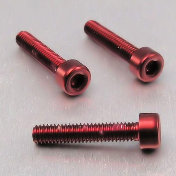 Parafuso Allen de Aluminio Socket Cap M4 x 20mm Vermelho