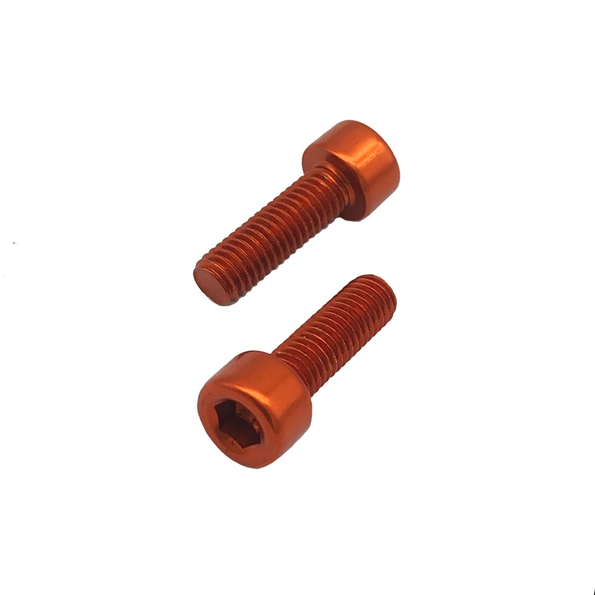 Parafuso Allen de Aluminio Socket Cap M5 x 10mm Unidade Laranja