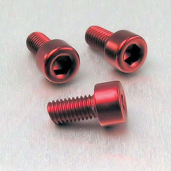 Parafuso Allen de Aluminio Socket Cap M5 x 10mm Vermelho