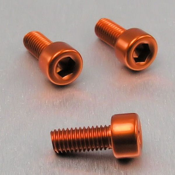 Parafuso Allen de Aluminio Socket Cap M5 x 12mm Unidade Laranja