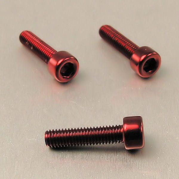 Parafuso Allen de Aluminio Socket Cap M5 x 20mm Vermelho