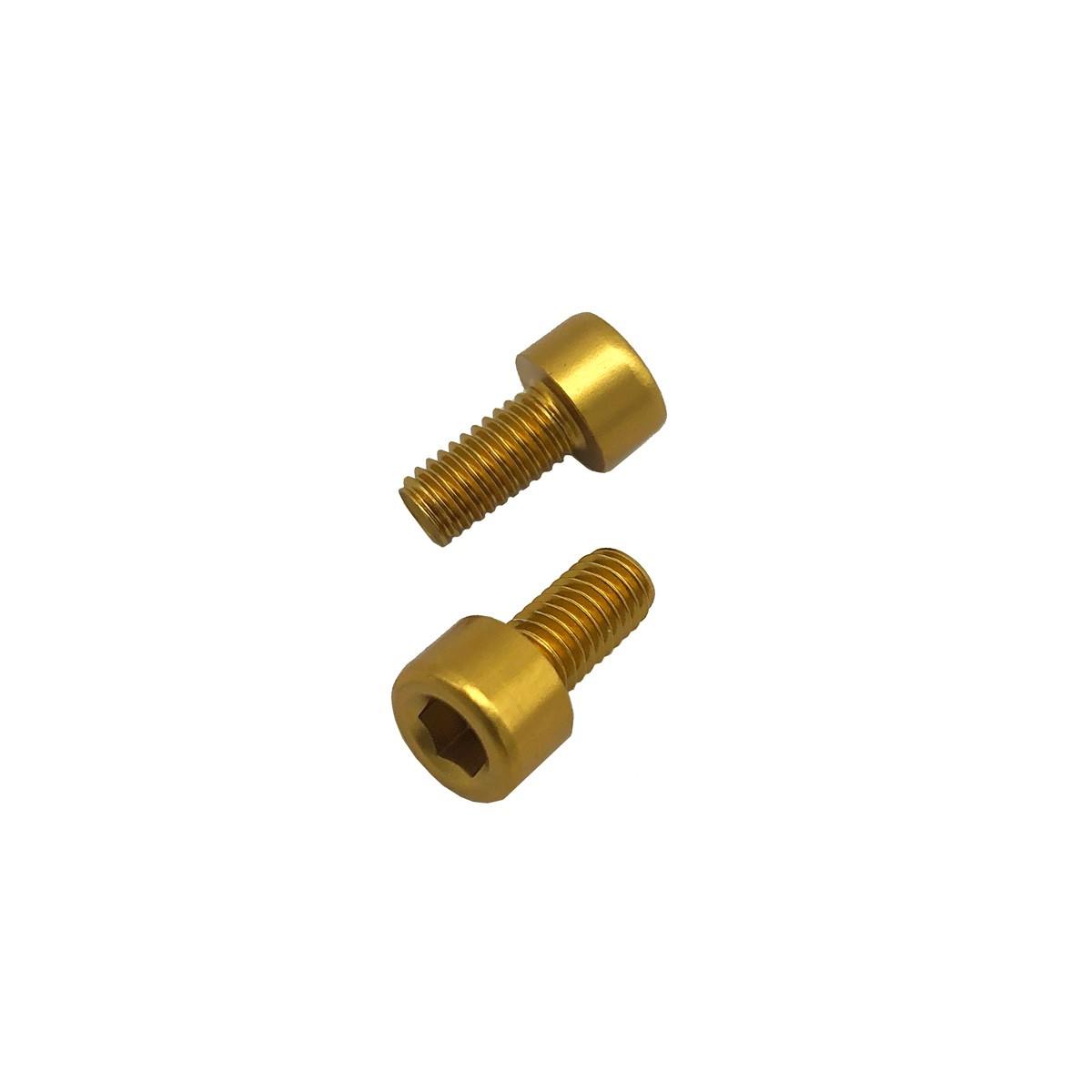 Parafuso Allen de Aluminio Socket Cap M5 x 8mm Dourado