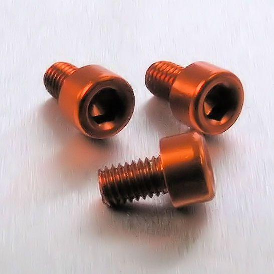 Parafuso Allen de Aluminio Socket Cap M5 x 8mm Laranja