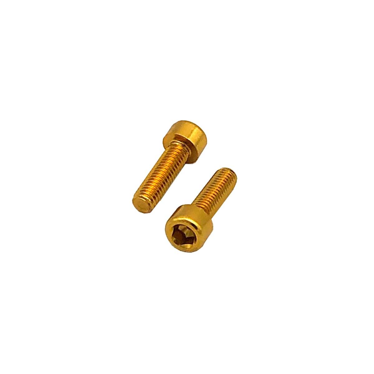 Parafuso Allen de Aluminio Socket Cap M6 x 16mm Dourado