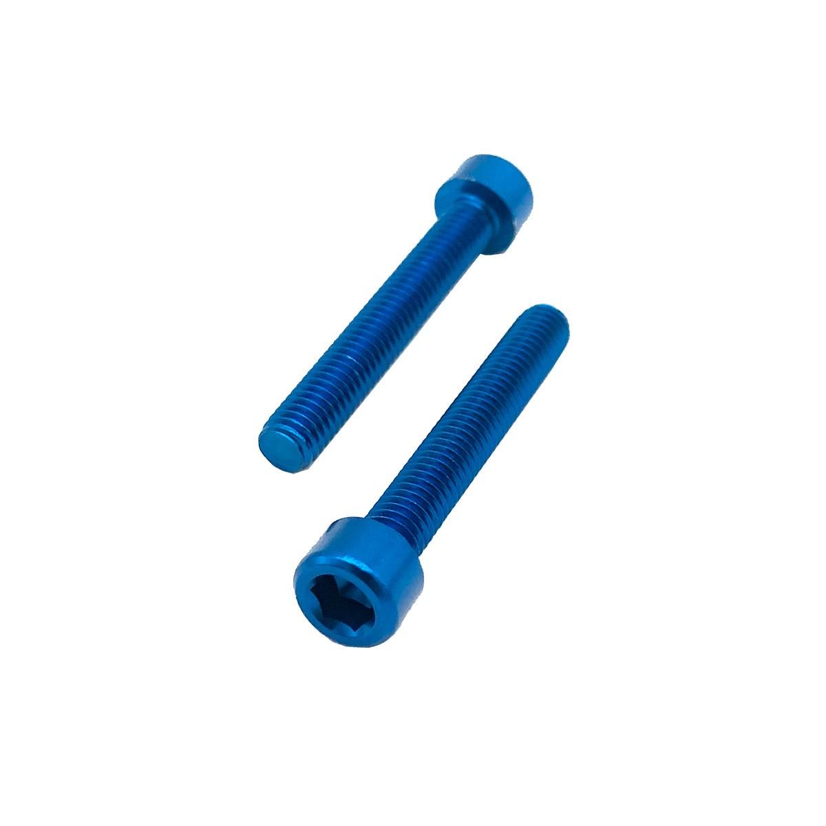 Parafuso Allen de Aluminio Socket Cap M6 x 20mm Azul