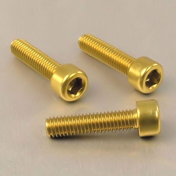 Parafuso Allen de Aluminio Socket Cap M6 x 25mm Dourado