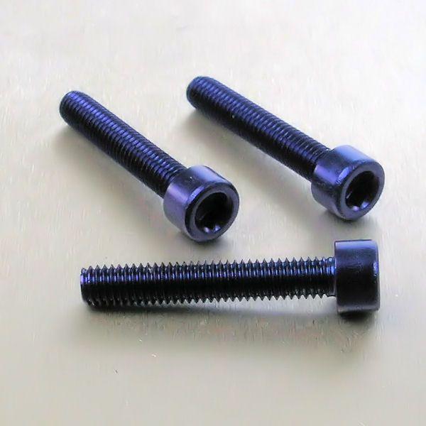 Parafuso Allen de Aluminio Socket Cap M6 x 35mm Azul