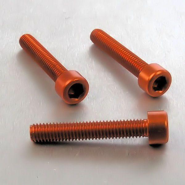 Parafuso Allen de Aluminio Socket Cap M6 x 35mm Laranja