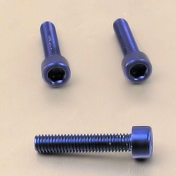 Parafuso Allen de Aluminio Socket Cap M6 x 40mm Azul