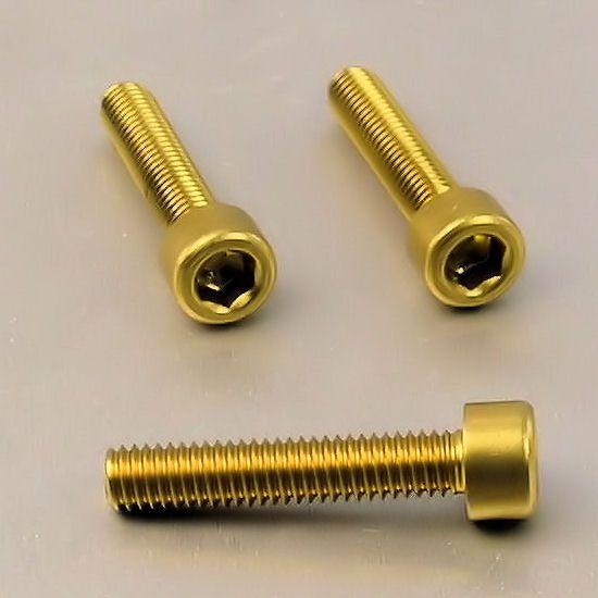 Parafuso Allen de Aluminio Socket Cap M6 x 40mm Dourado