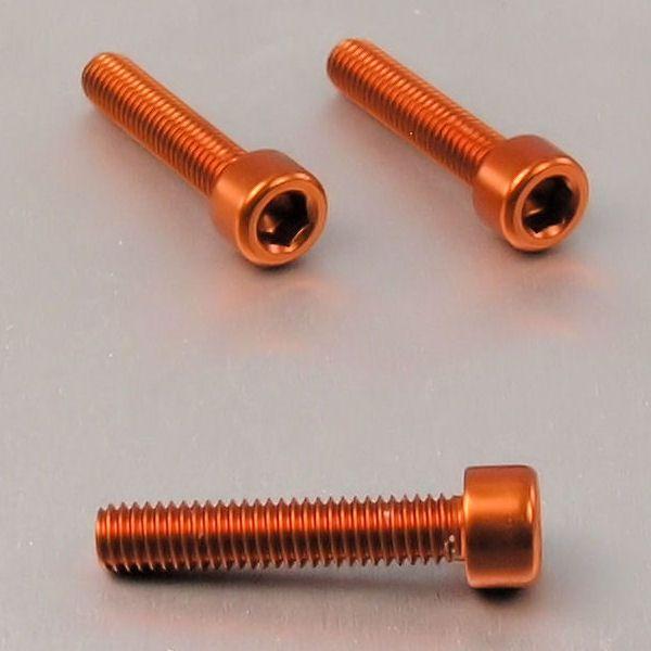 Parafuso Allen de Aluminio Socket Cap M6 x 40mm Laranja