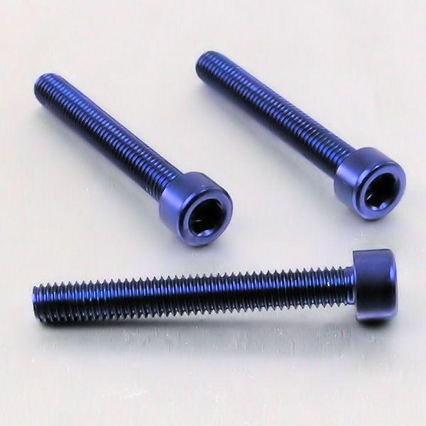 Parafuso Allen de Aluminio Socket Cap M6 x 45mm Azul