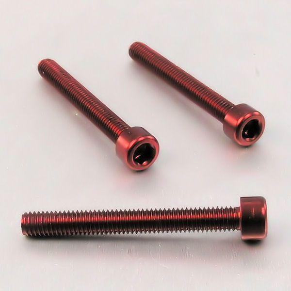 Parafuso Allen de Aluminio Socket Cap M6 x 45mm Vermelho