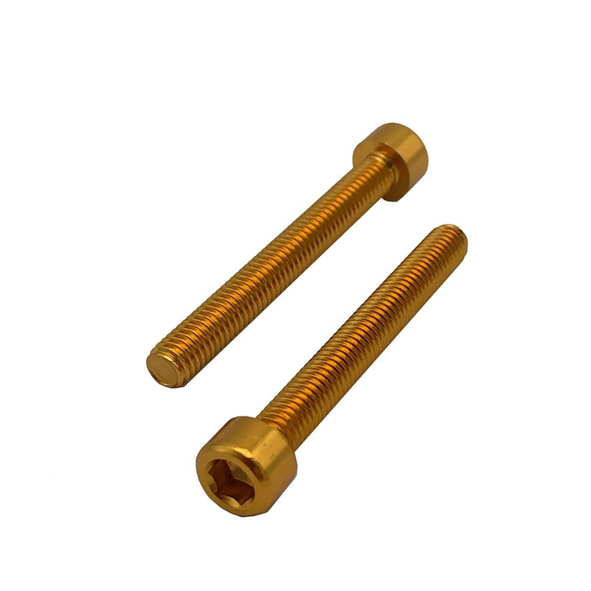Parafuso Allen de Aluminio Socket Cap M6 x 50mm Dourado