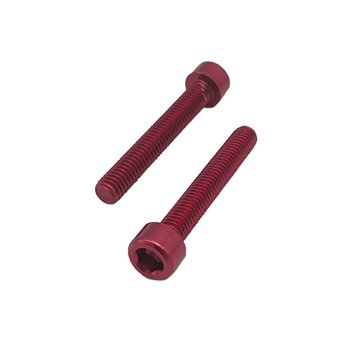 Parafuso Allen de Aluminio Socket Cap M6 x 50mm Vermelho