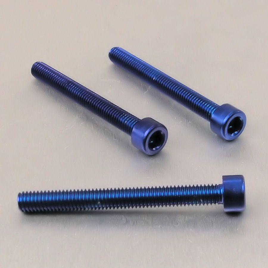 Parafuso Allen de Aluminio Socket Cap M6 x 55mm Azul