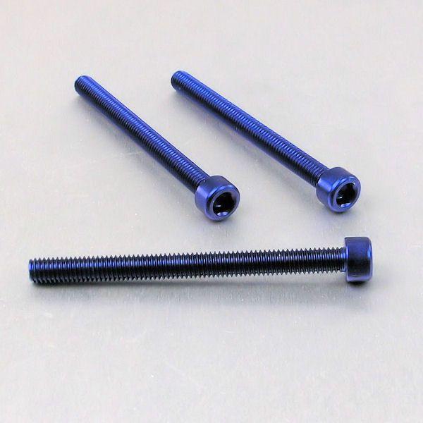 Parafuso Allen de Aluminio Socket Cap M6 x 65mm Azul