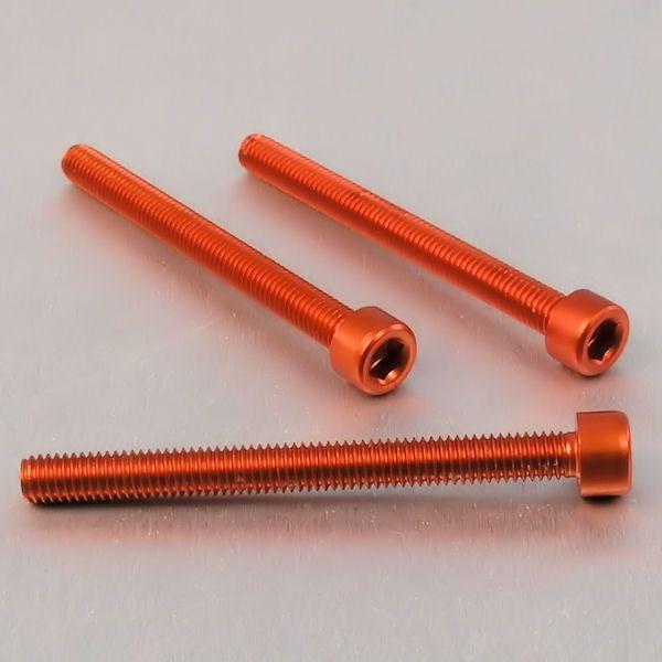 Parafuso Allen de Aluminio Socket Cap M6 x 65mm Laranja
