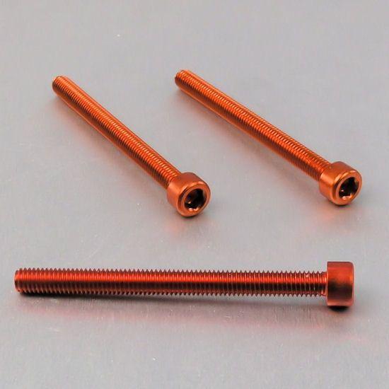 Parafuso Allen de Aluminio Socket Cap M6 x 70mm Laranja