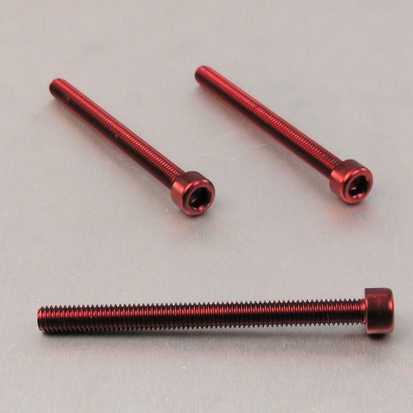 Parafuso Allen de Aluminio Socket Cap M6 x 70mm Vermelho