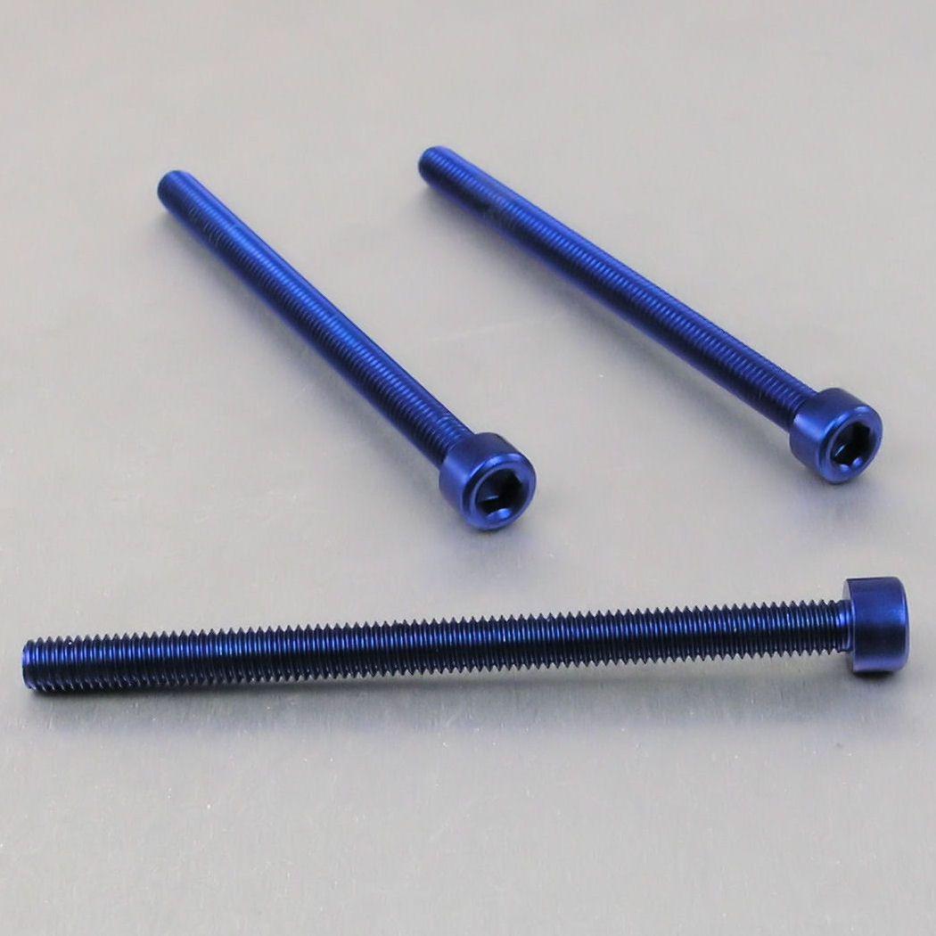 Parafuso Allen de Aluminio Socket Cap M6 x 80mm Azul