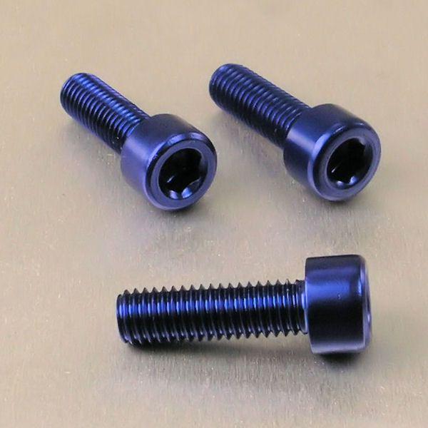 Parafuso Allen de Aluminio Socket Cap M8 x 20mm Azul