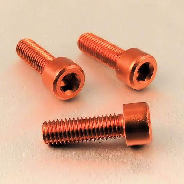 Parafuso Allen de Aluminio Socket Cap M8 x 20mm Laranja