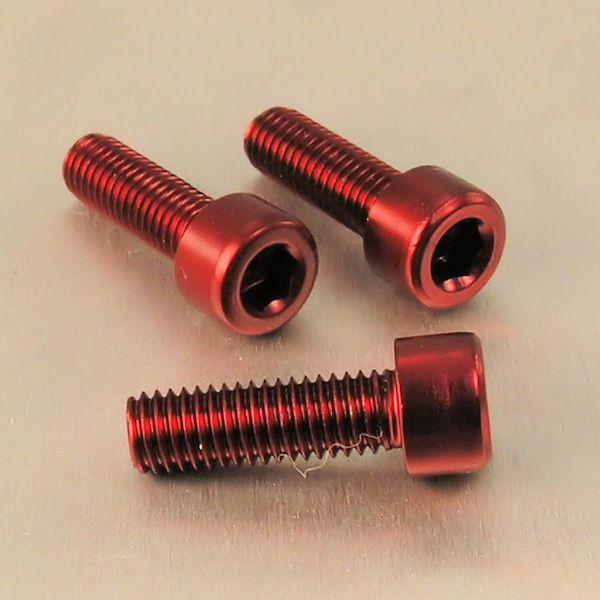 Parafuso Allen de Aluminio Socket Cap M8 x 20mm Vermelho