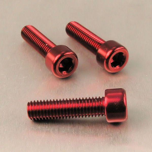 Parafuso Allen de Aluminio Socket Cap M8 x 30mm Vermelho