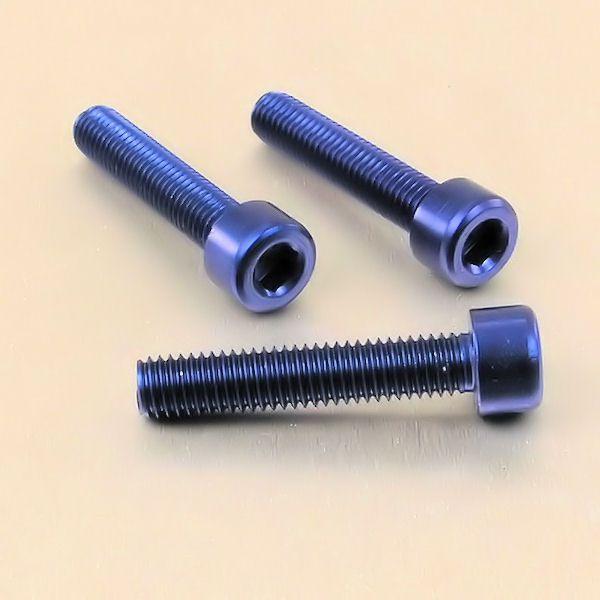 Parafuso Allen de Aluminio Socket Cap M8 x 40mm Azul