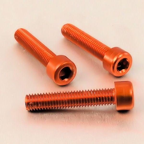 Parafuso Allen de Aluminio Socket Cap M8 x 40mm Laranja