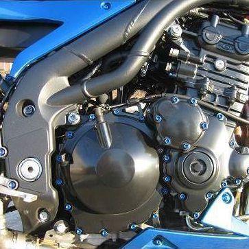 Parafusos da tampa do motor Honda CBR600RR 07-12 Azul