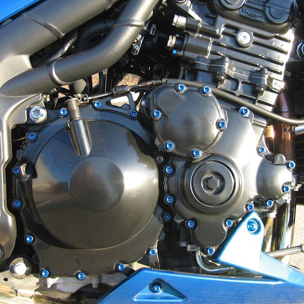 Parafusos da tampa do motor Kawasaki Ninja 250R 08+ Azul