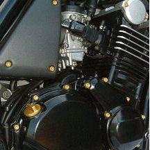 Parafusos da tampa do motor Kawasaki Ninja 250R 08+ Dourado