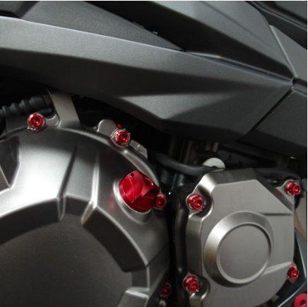 Parafusos da tampa do motor Kawasaki Ninja ZX10R 11+ Vermelho
